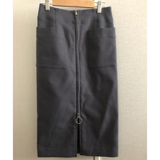 ノーブル(Noble)のNOBLE ジップアップスカート タイトスカート サイズ34(ひざ丈スカート)