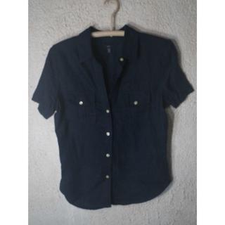 ギャップ(GAP)の3921 GAP レディース 半袖 涼しげ リネン 100% シャツ(シャツ/ブラウス(半袖/袖なし))