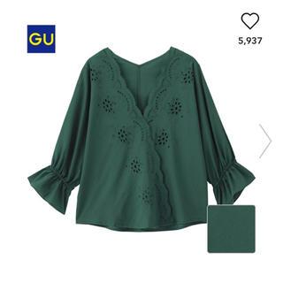 ジーユー(GU)のGU スカラップレース ブラウス 七分袖(シャツ/ブラウス(長袖/七分))