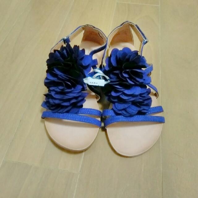 ZARA(ザラ)の未使用 ZARA サンダル 18センチ キッズ/ベビー/マタニティのキッズ靴/シューズ (15cm~)(サンダル)の商品写真