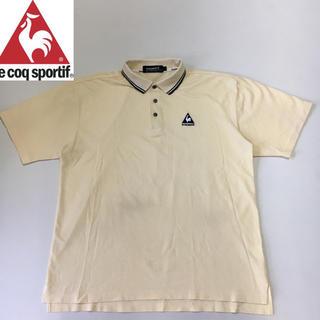 ルコックスポルティフ(le coq sportif)のルコック ゴルフ シャツ ポロシャツ イエロー Lサイズ(ウエア)