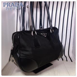 プラダ(PRADA)の【美品】PRADA×プラダ ハンドバッグ(ハンドバッグ)