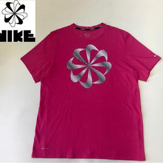 NIKE - NIKE RUNNING ナイキ ランニング 風車 Tシャツ ピンクレッド L