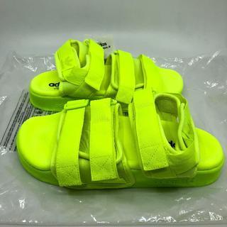 アディダス(adidas)の25.5cm アディダス アディレッタ サンダル イエロー(サンダル)