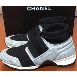 シャネル(CHANEL)のシャネル❤激レア❤ソックス スニーカー❤正規品 39(スニーカー)