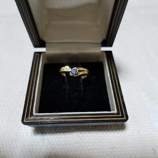 K18サファイア、ダイヤリング(リング(指輪))