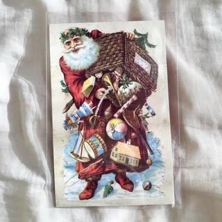 アッシュペーフランス(H.P.FRANCE)のJohn Derian ジョンデリアン ポストカード Noel サンタクロース(切手/官製はがき)