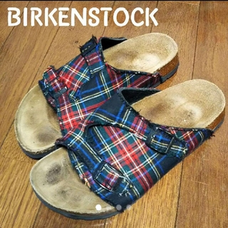 ビルケンシュトック(BIRKENSTOCK)のBIRKENSTOCK レア チェック柄 チューリッヒ(サンダル)