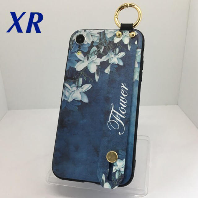 iphonexsmax ケース オリジナル 、 アイフォンXR iPhoneXRケース☆カラビナ付き☆送料無料☆背面ベルト☆青の通販 by ロゴ's shop|ラクマ