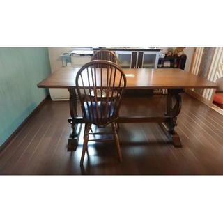 オオツカカグ(大塚家具)のダイニングテーブルと椅子2脚のセット(ダイニングテーブル)