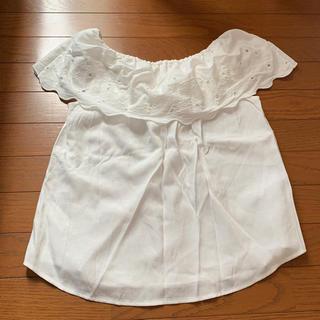 ジーユー(GU)のGU オフショルダー 白(シャツ/ブラウス(半袖/袖なし))
