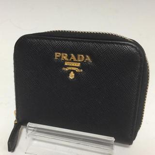 2c64c9103767 プラダ(PRADA)のPRADA 黒 メタル コインケース サフィアーノ レザー 小銭入れ プラダ(