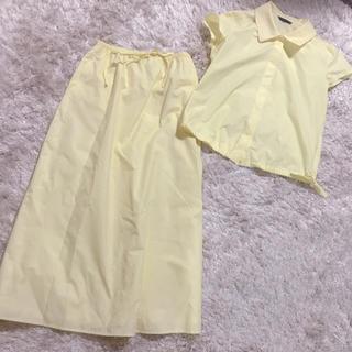 ルシェルブルー(LE CIEL BLEU)のルシェルブルー   イエロー レモン色 セットアップ スカート シャツ(セット/コーデ)