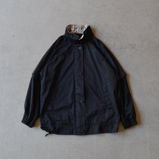 バーバリー(BURBERRY)のBurberry バーバリー 2way ノバチェック 柄 ジャケット 黒 M(ブルゾン)