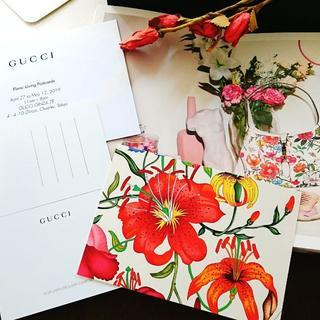 グッチ(Gucci)のGUCCI ノベルティー post card 《beige》(切手/官製はがき)