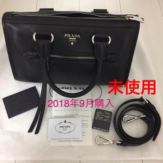 プラダ(PRADA)の未使用 PRADA プラダ ハンドバッグ ショルダーバッグ 黒 シルバー(ハンドバッグ)