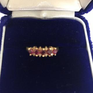 ルビーダイヤモンドリング K18 お値下げ中(リング(指輪))
