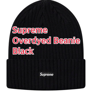 Supreme - Supreme Overdyed Beanie Black 19SS Week1