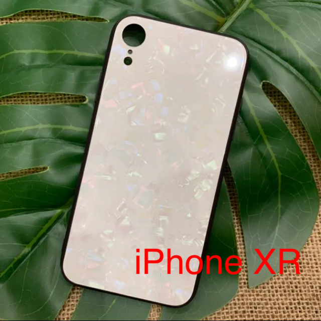 iPhone XR ケース ホワイトシェルの通販 by もも|ラクマ