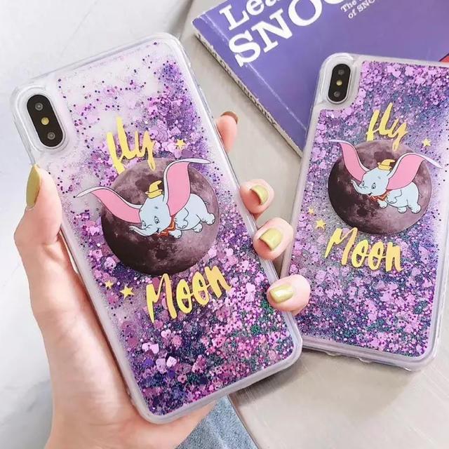 iphone 8 ケース ルブタン | Disney - iPhoneケース✨キラキラ✨ラメ✨ダンボ✨シリコンケースの通販 by kinaphone|ディズニーならラクマ