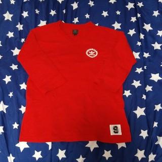 アディダス(adidas)のアディダス Tシャツ 赤 七分袖(Tシャツ/カットソー(七分/長袖))