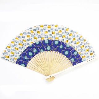 マルニ(Marni)の新品 正規品 マルニ フラワーカフェ 扇子 ケース付き ショッパー付き ブルー(その他)