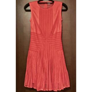 エイソス(asos)のASOS ドレス ワンピース ミニ 膝丈 M〜L ピンク サンゴ フラミンゴ(ナイトドレス)
