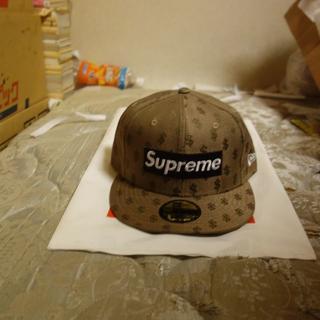 シュプリーム(Supreme)の7 5/8 supreme monogram new era brown(キャップ)