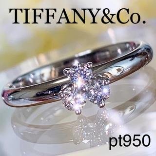 ティファニー(Tiffany & Co.)のTIFFANY&Co. pt950 アリア ダイヤモンドリング 10号 美品(リング(指輪))