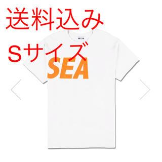 送料込み wind and sea tee White orange S