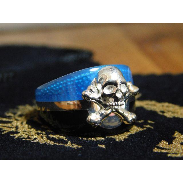 新品未使用 セインツ SAINTS ブルーカリビアンリング 15号 リング メンズのアクセサリー(リング(指輪))の商品写真