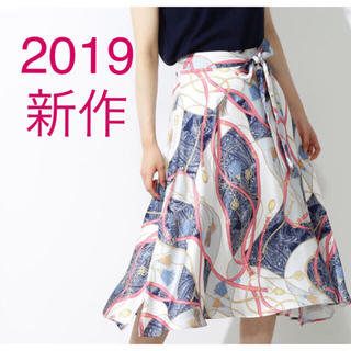 PROPORTION BODY DRESSING - 2019年新作⭐︎新品未使用 スカーフプリントイレヘムスカート