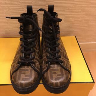 フェンディ(FENDI)のフェンディ FENDI ハイカットスニーカー 人気 美品 靴 スニーカー(スニーカー)