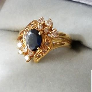 ジュエリーマキ(ジュエリーマキ)のジュエリーマキ k18 サファイアダイヤリング #11~12(リング(指輪))
