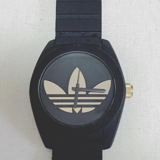 アディダス(adidas)のアディダス ブラック 腕時計(ラバーベルト)