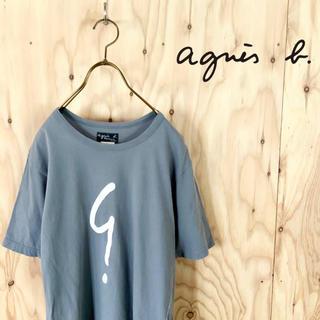 agnes b. - agnes.b. ビッグロゴ デザイン tシャツ グレー サイズ 3
