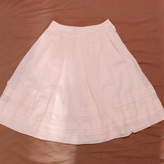 アルファキュービック(ALPHA CUBIC)のアルファキュービック  スカート オフホワイト(ひざ丈スカート)