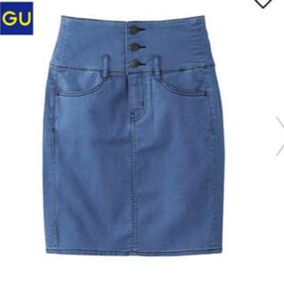 ジーユー(GU)のgu デニムスカート(ひざ丈スカート)