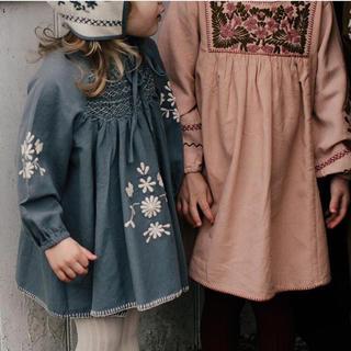 キャラメルベビー&チャイルド(Caramel baby&child )のApolina  'MAREN' SMOCK-BLUE MOUNTAIN(ワンピース)