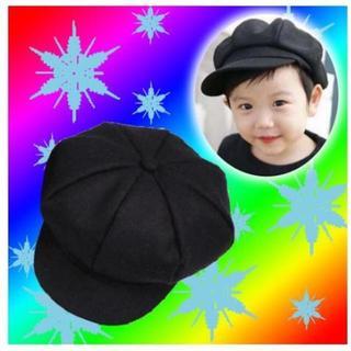 7ccbc36b793b0 キッズ キャスケット ハンチング 帽子 つば付き ベレー 帽 無地 レディース(帽子)