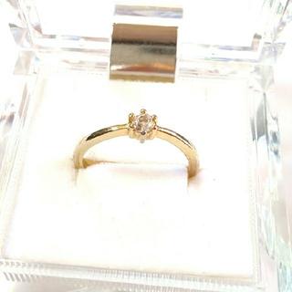 ホワイトトパーズ 10号 リング 指輪(リング(指輪))