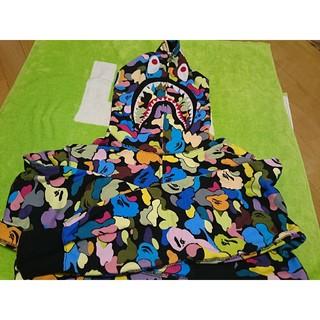 アベイシングエイプ(A BATHING APE)のbape shark hoodie シャーク フーディ XL マルチ(パーカー)