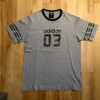 アディダス(adidas)のadidas アディダス Tシャツ 古着 ナンバリング グレー M(Tシャツ/カットソー(半袖/袖なし))