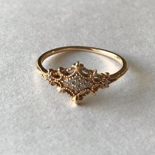 アガット(agete)のagete  14金ダイヤモンドリング(リング(指輪))