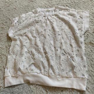 ジーユー(GU)のレースアップ Tシャツ(Tシャツ(半袖/袖なし))
