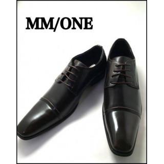 MMONE メンズ シューズ モンク ビジネスシューズ 40 25センチ DBR(ドレス/ビジネス)