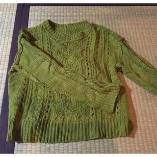 ジーユー(GU)のg.u ニット 緑 sサイズ(ニット/セーター)