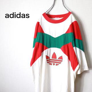アディダス(adidas)の激レア 90s アディダス Tシャツ クレイジー トレフォイル  M(Tシャツ/カットソー(半袖/袖なし))