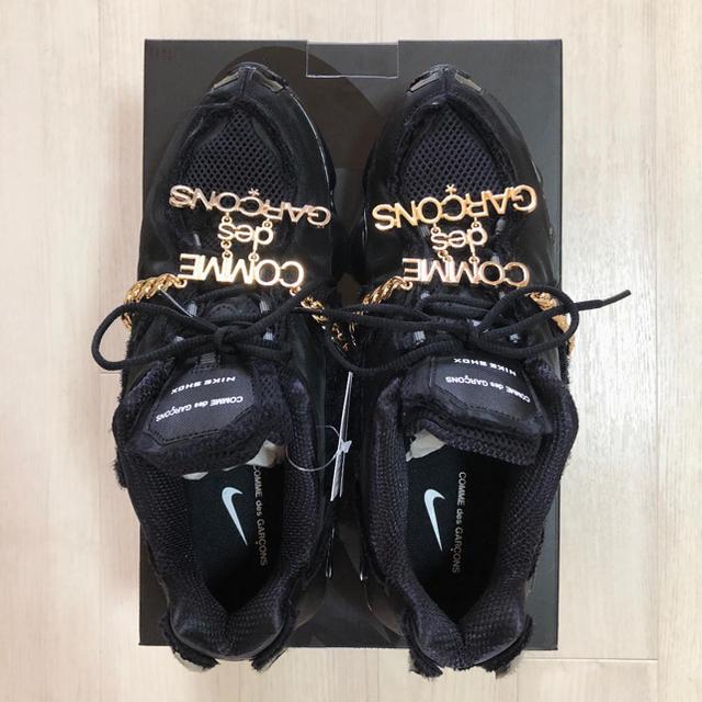 COMME des GARCONS(コムデギャルソン)の新作 コムデギャルソン × ナイキ Wネーム ショックス ブラック レディースの靴/シューズ(スニーカー)の商品写真