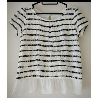 クリアインプレッション(CLEAR IMPRESSION)の【値下げ】clear  impression ボーダーシャツ(カットソー(半袖/袖なし))